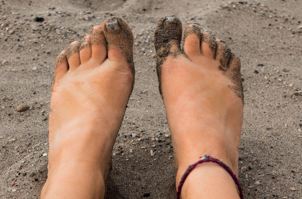 Remove your shoes and socks and walk with bare feet on the earth.