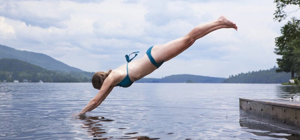 Swimming in rivers, lakes, and oceans has the same grounding effect on the body.